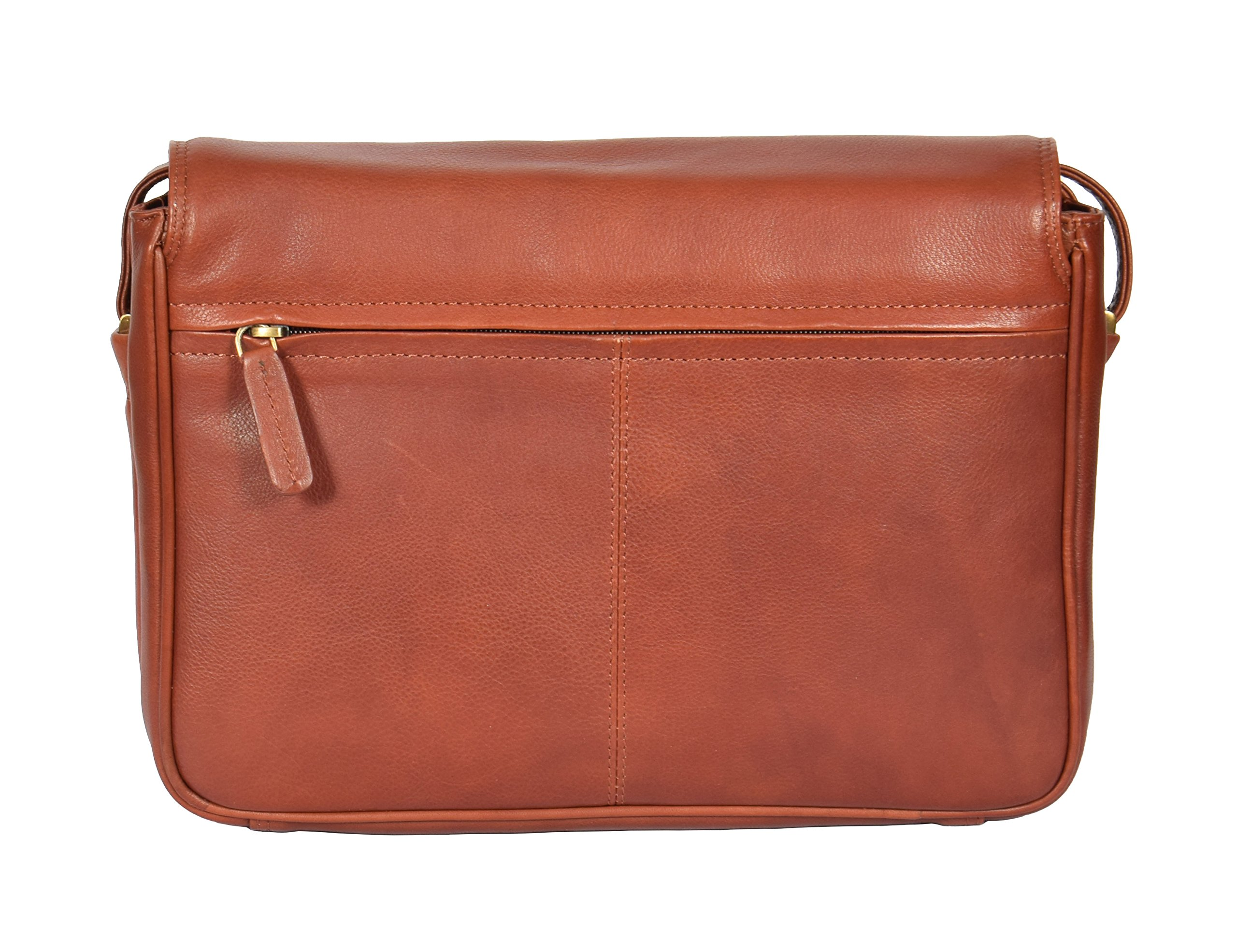 Womens Brown Shoulder Leather Organiser Cross Body Work Messenger Bag A190 by A1 FASHION GOODS (Image #4)