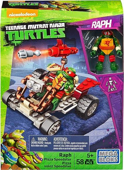 Mega Bloks Teenage Mutant Ninja Turtles Ninja Racers, Raphael Pizza Speedster