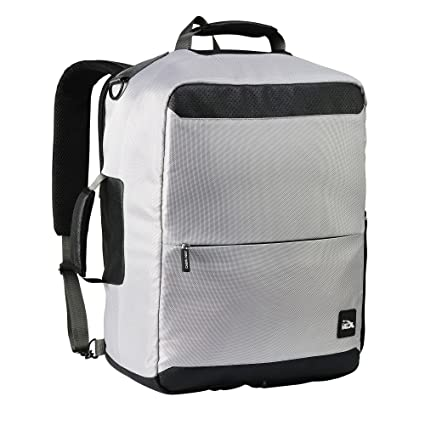 ee26e7f390bf Cabin Max Perth 45X35X20Cm Anti-Theft Backpack Underseat   Travel Shoulder  Bag - Grey  Amazon.in  Bags