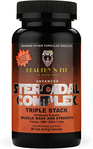 Healthy N Fit Advanced Steroidal Complex 90 Capsules Triple Stack for Increased Muscle Mass and Strength.