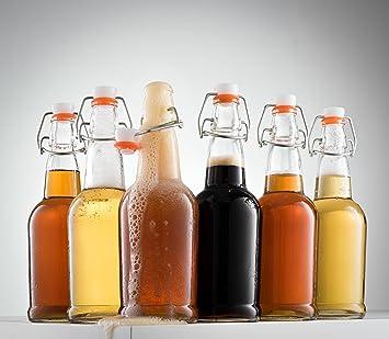6pk casa tapas de botellas de cerveza Grolsch con tapa de fácil swing – Martillo (