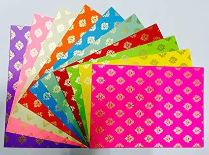 Craftdev Pack Of 10 A4 Size Craft Paper Sheets With Single Side