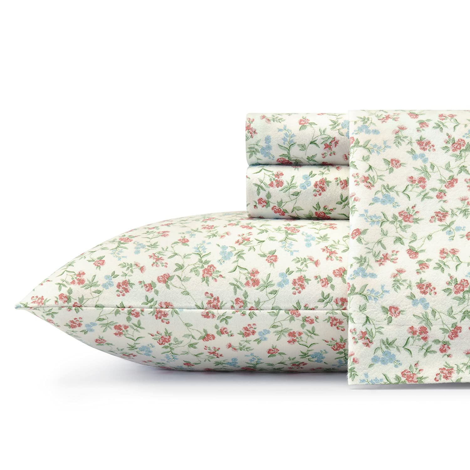 Laura Ashley Flannel Queen Sheet Set: Outlet Laura Ashley Lucy Sheet Set, Queen, Bright Pink