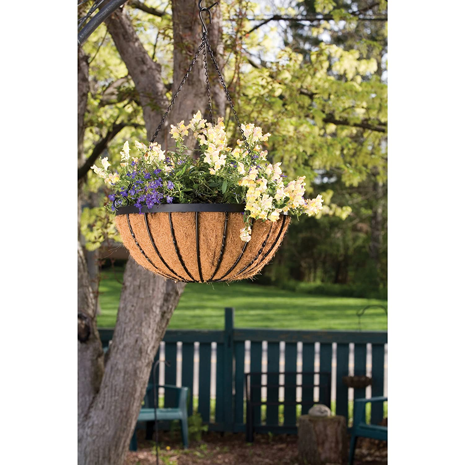 Panacea 88536 Cotsworld Series Hanging Basket with Liner, 18-Inch