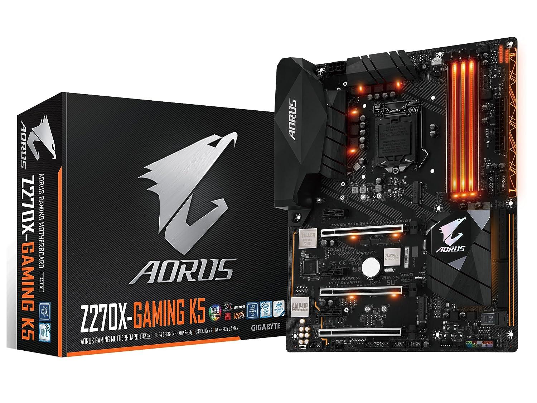 Amazon.com: GIGABYTE AORUS GA-Z270X-Gaming K5 Gaming Motherboard ...