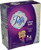 Puffs Ultra Soft & Strong Non-lotion Tissue (4 pack (224 tissues total))