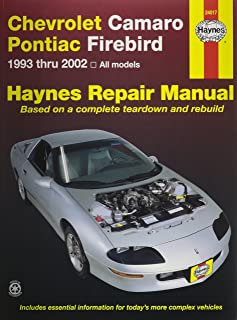 gm camaro and firebird 1993 2002 haynes repair manuals chilton rh amazon com 2000 Camaro 1999 camaro service manual