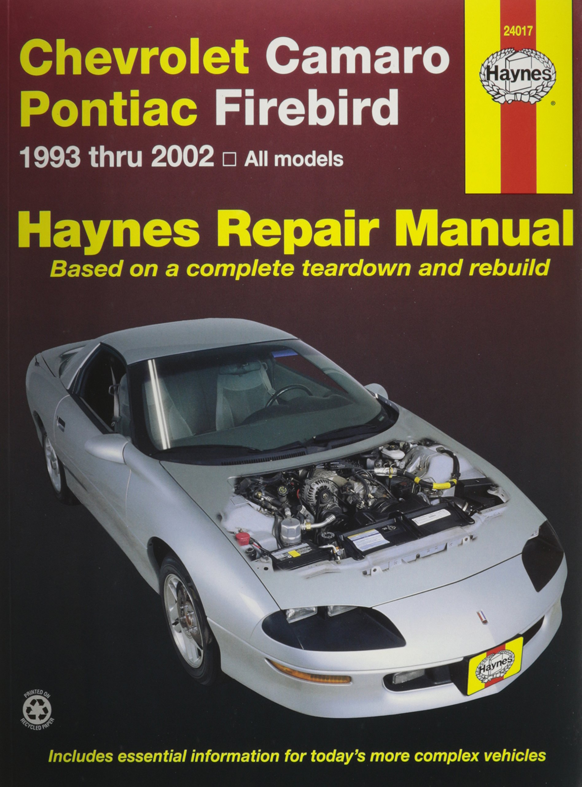 Amazon.com: HAYNES REPAIR MANUAL for CAMARO/FIREBIRD NUMBER 24017  (0038345240171): Books
