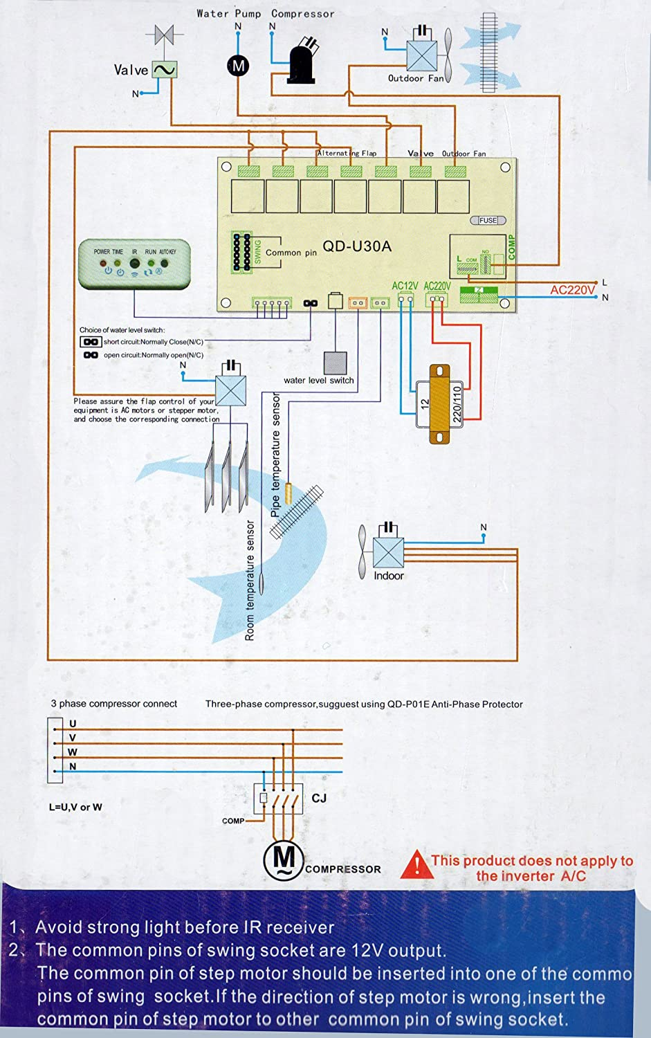 Universal Ceiling Cassette Air Conditioning Replacement Control Ir Receiver Circuit Diagram System