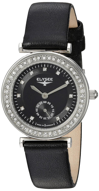 ELYSEE Damenuhr schwarz-silber 44006