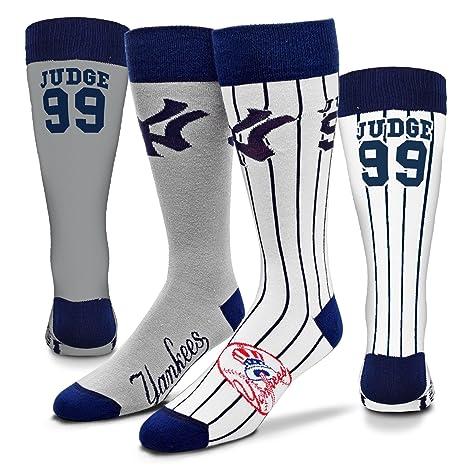 Amazoncom New York Yankees Big Top Mismatch Socks Aaron Judge