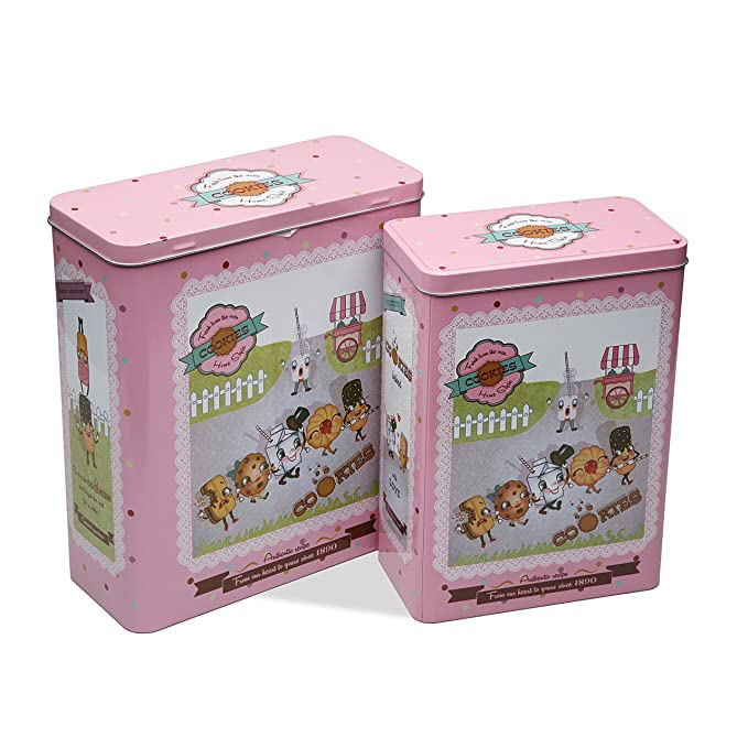 Versa 10390183 Set 2 Cajas Rectang Pinzas, 26,5x10,5x23,4cm, Metal: Amazon.es: Hogar