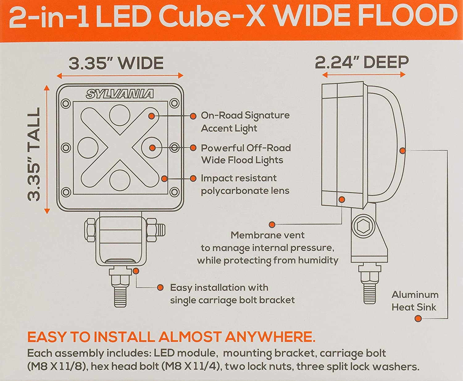 Sylvania Led Cube X Off Road Wide Flood Light Contains 1 X11 Wiring Diagram Car Motorbike