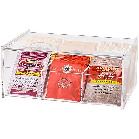 Amazon.com: Bolsas de té Organizador Caja de almacenamiento ...