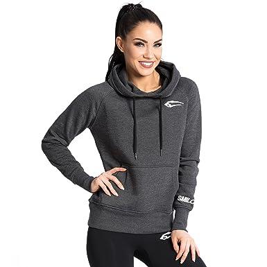 SMILODOX Slim Fit Kapuzenpullover Damen   Hoodie für Sport Fitness    Freizeit   Sportpullover - Sweatshirt 495f4eda3f