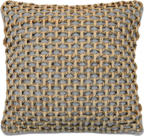 Boho Living Jada Decorative Pillow, Grey Pillows, 20 in x 20 in x 6.5 2 Piece