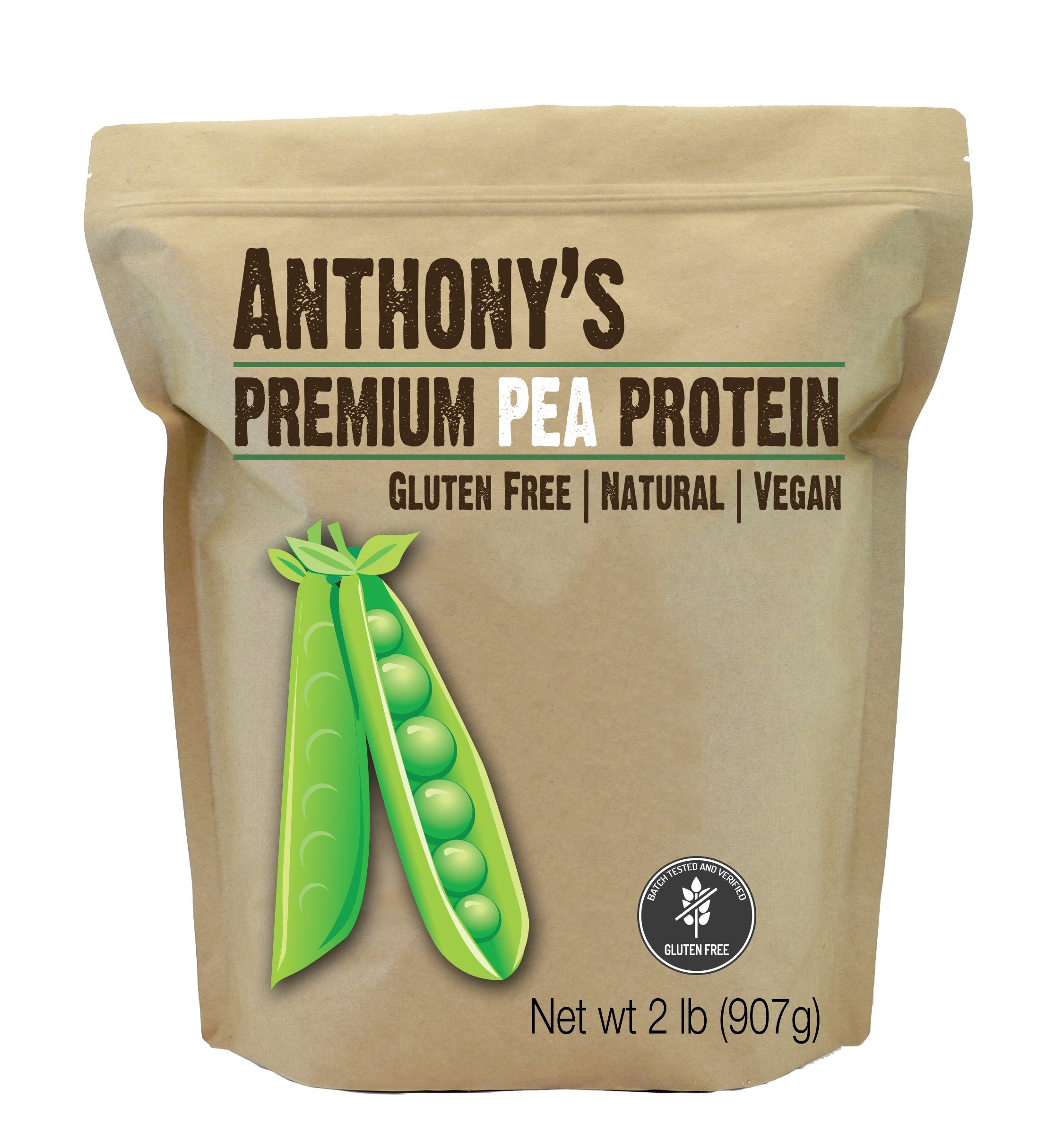 Anthony's Pea Protein, 84% Protein, 2lbs, Plant Based, Gluten Free, Keto Friendly by Anthony's