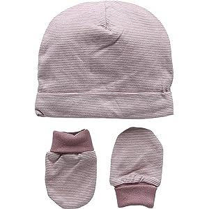 f8e2a8602 Mamas & Papas Marl Stipe Hat & Mitts, Sombrero para Bebés