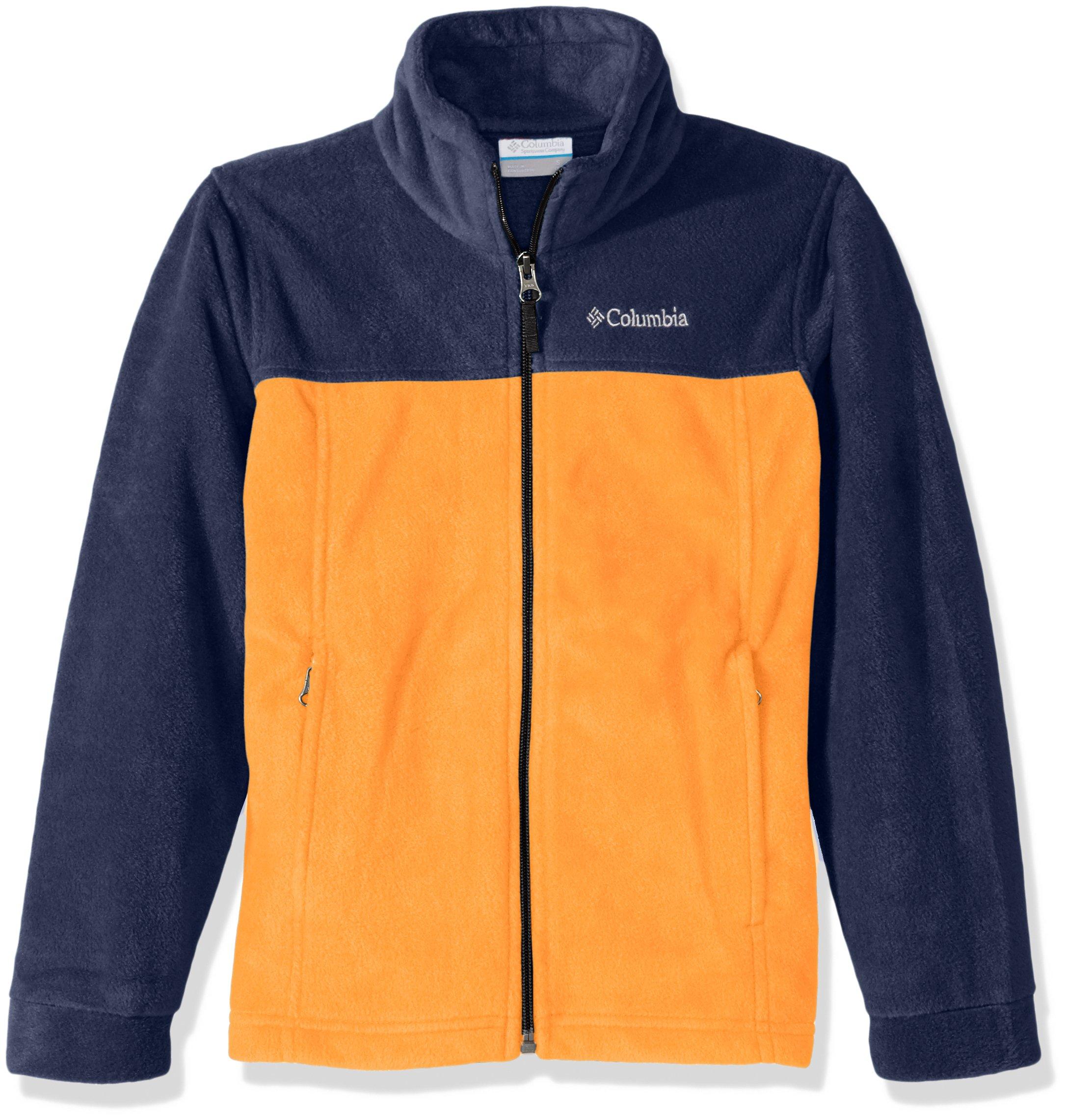 419accb78 Galleon - Columbia Big Boy's Steens Mountain II Fleece Jacket, Solar,  Collegiate Navy, L