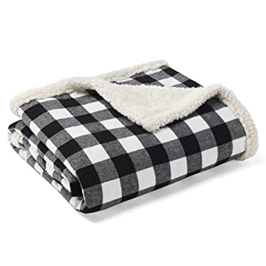 Eddie Bauer Cabin Plaid Throw, Black