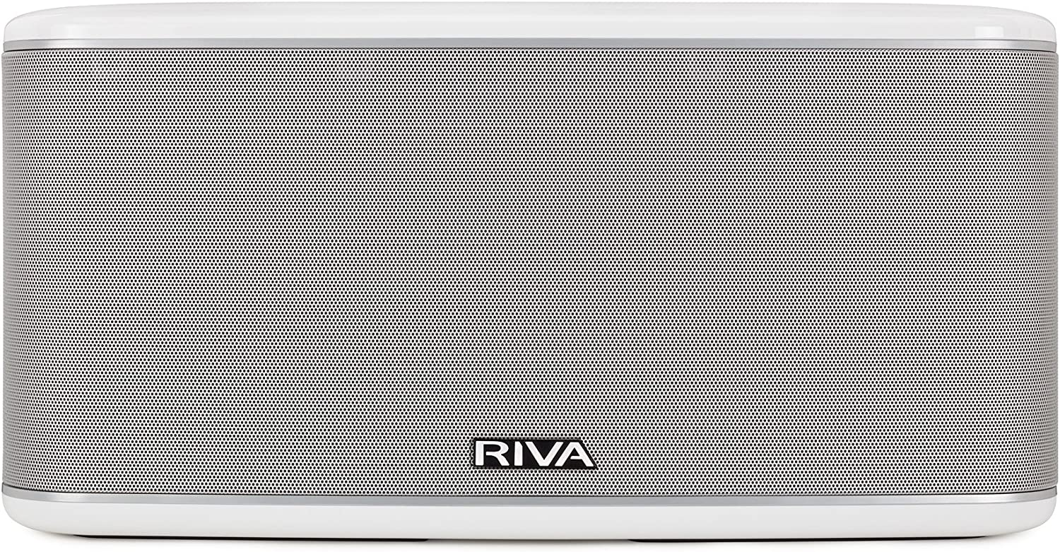 RIVA FESTIVAL Smart Speaker Mid-Size Wireless for Multi-Room music streaming and voice control works with Google Assistant (White)