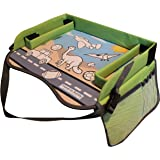 Kids Play Tray - Free Bag - Perfect Activity Tray or Car Seat Tray - Kids Travel Trays are an Ideal Organizer Tray, Lap Desk or Snack Tray - A Road Trip Essential - Green - By Travel in Sanity