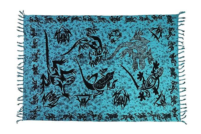 CA 60 Modelos Sarong Pareo Falda Playa Toalla Wickel Toalla de Mano Verano Patrón Set Toalla de Sauna + Hebilla Cierre Azul Turquesa: Amazon.es: Ropa y ...