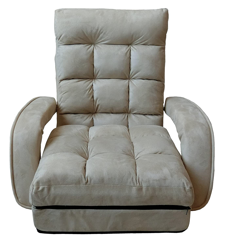 座椅子 脚ラクチェア肘付 (ベージュ) B07B471M4D ベージュ ベージュ