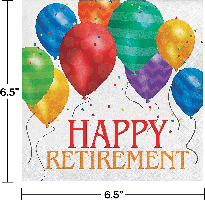 Amscan Happy Retirement Beverage Party Napkins 192 Ct.
