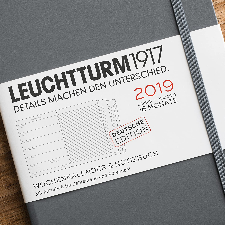 Leuchtturm1917 357748 Calendario semanal y cuaderno 18 meses ...