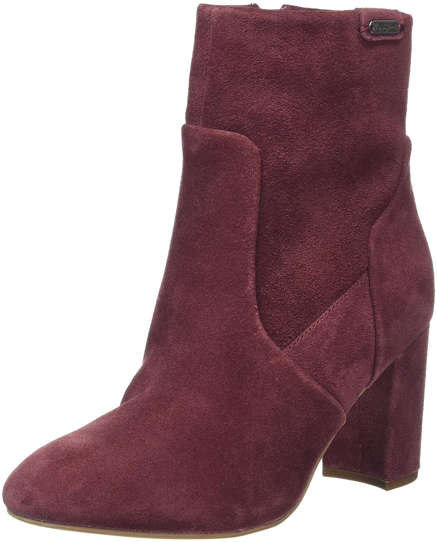 Pepe Jeans Dylan Zip, Zapatillas de Estar por Casa para Mujer Rojo (Burgundy 299)