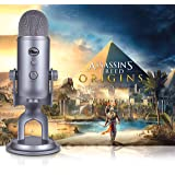Blue Yeti Cool Grey + Assassin's Creed Origins Streamer Bundle