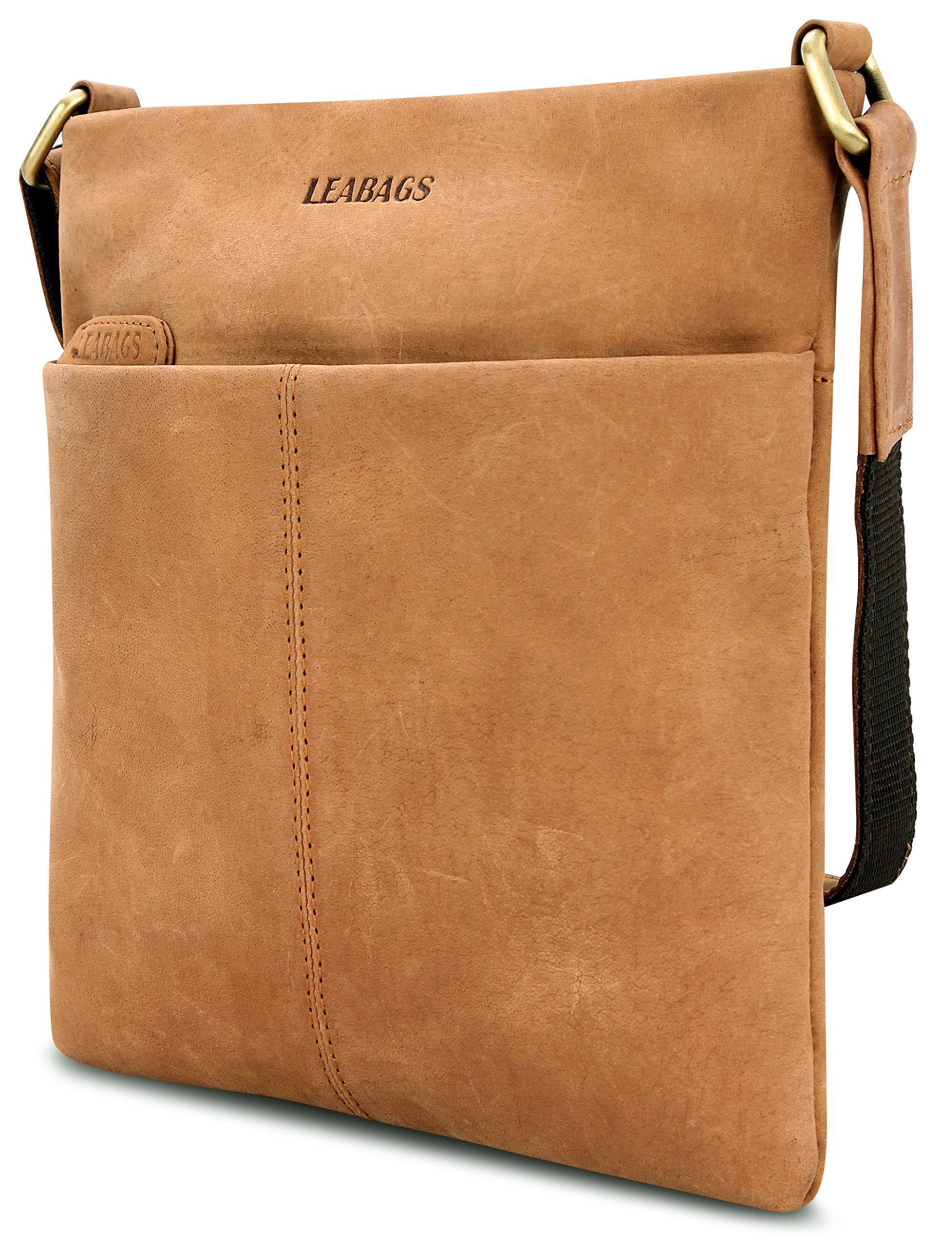 LEABAGS Seattle genuine buffalo leather crossbody bag in vintage style - Brown by LEABAGS (Image #4)