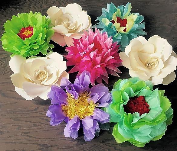 Amazon Com 5pk 13 Super Fluffy Flowers Tissue Paper Flower Party