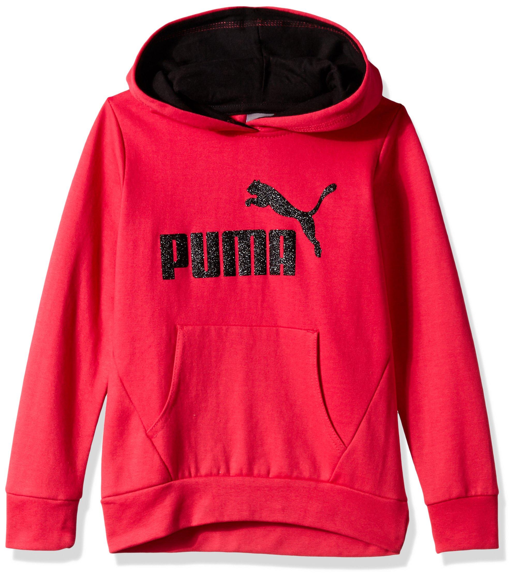 PUMA Big Girls' Hoodie, Love Potion, Medium (8/10)