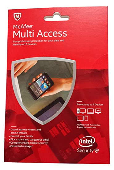McAfee 2015 Multi Access 1 User 5 Devices MMD15E
