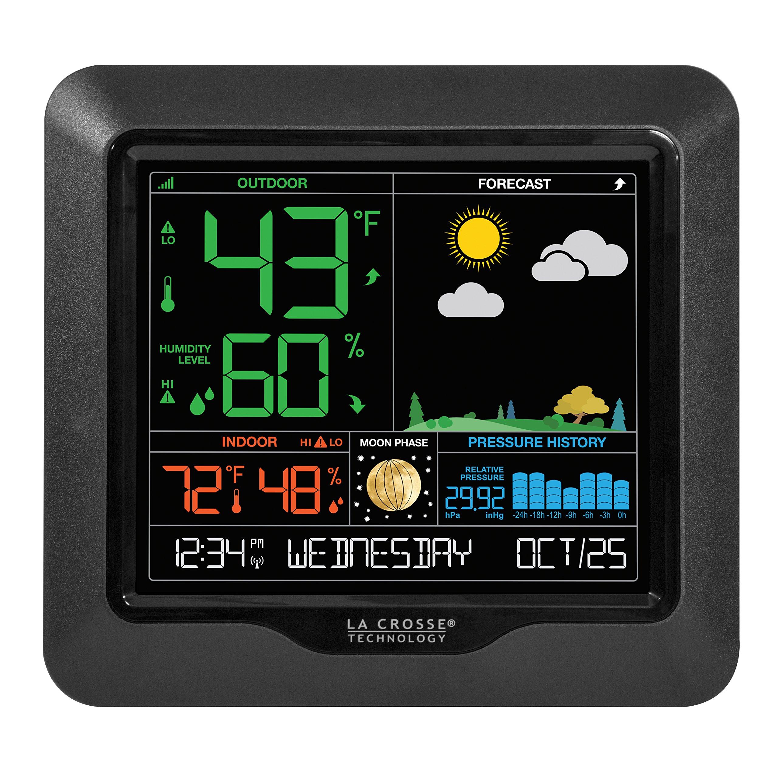 La Crosse Technology S84107 Color Forecast Station, Black by La Crosse Technology