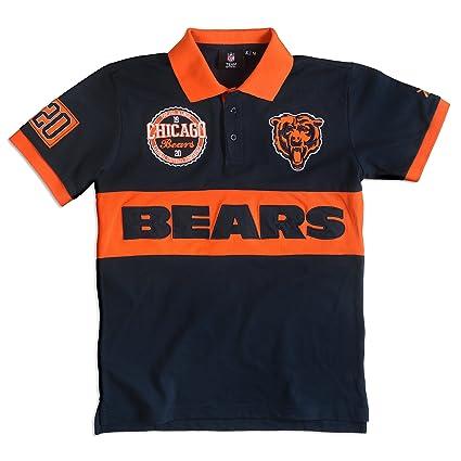 23d942f86 Chicago Bears Cotton Poly Wordmark Rugby Short Sleeve Polo Shirt Medium