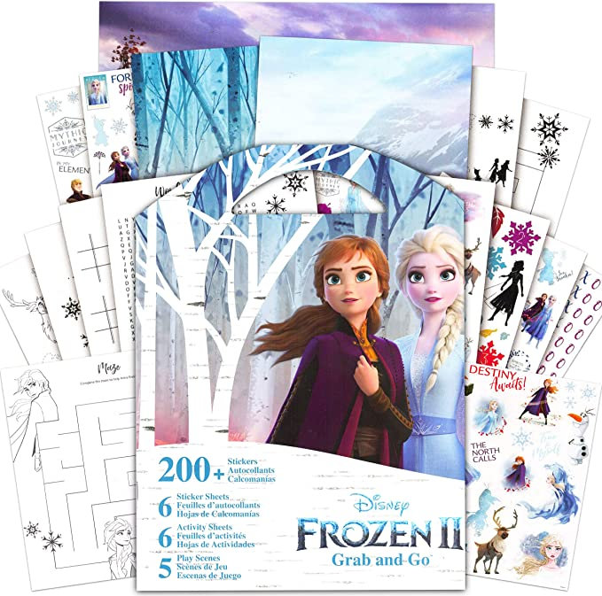 Frozen Elsa /& Anna Coloring Book for Girls SMU-2193 Style Me Up Disney Sticker Activity Book Kids Art and Craft for Girls