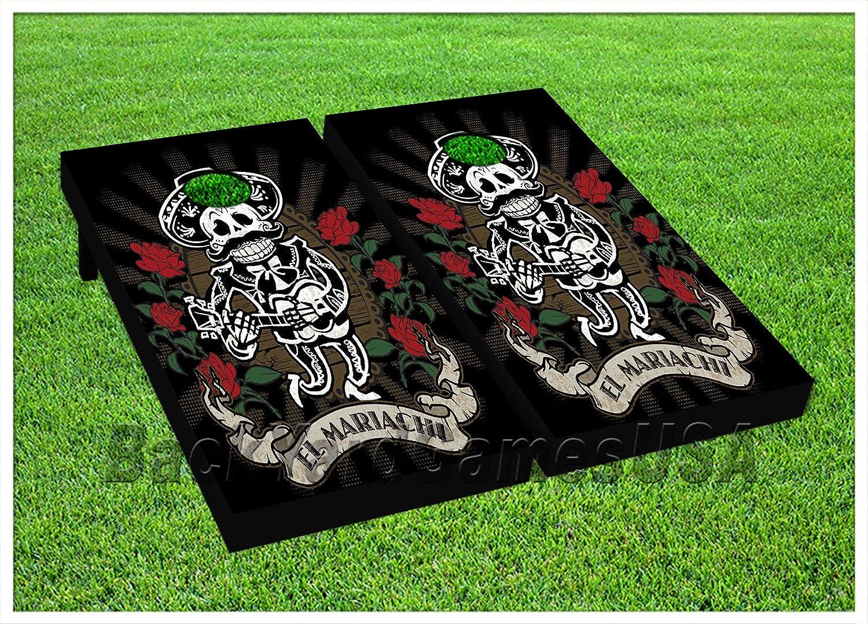 スペイン語Holiday Cornhole Beanbag Toss Game WバッグゲームボードDay of Dead Set 552   B0714LCCXL