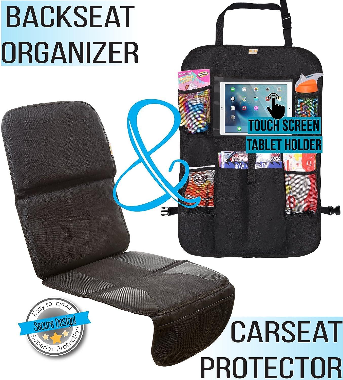 Zohzo Car Bundle - Car Seat Protector & Back Seat Organizer/Kick Ma