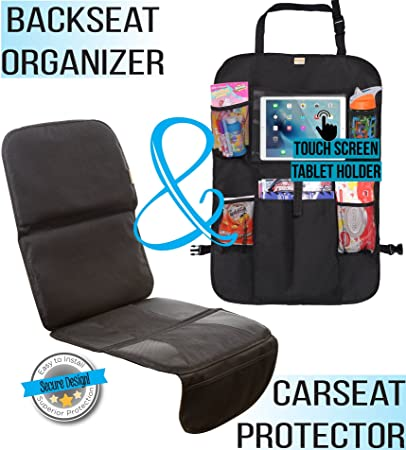 Amazon.com: Zohzo Car Seat Protector & Back Seat Organizer/Kick Mat ...