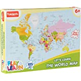 Funskool-Play & Learn World Map Puzzles