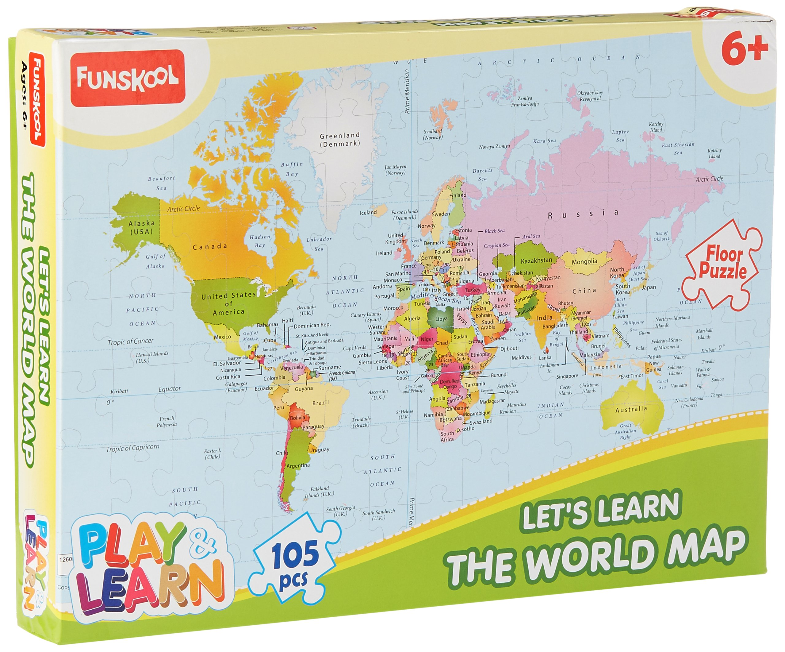 Funskool-Play & Learn World Map Puzzles product image