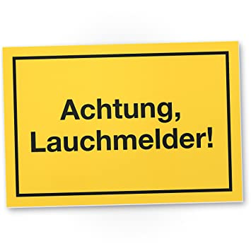 Achtung Lauchmelder Kunststoff Schild mit Spruch Lauch, Geschenkidee ...