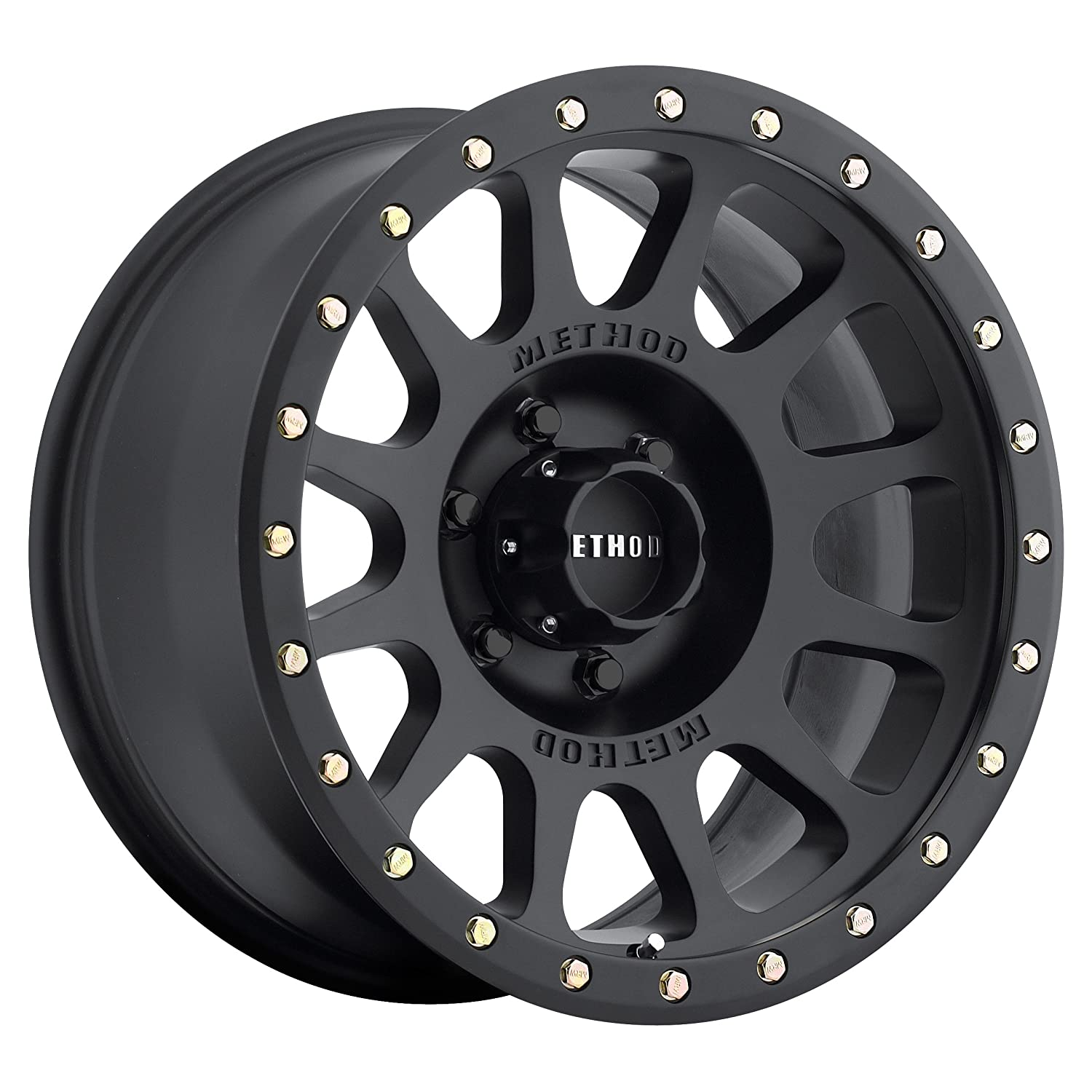 Method Race Wheels NV Matte Black Wheel with Zinc Plated Accent Bolts (18x9'/8x170mm) -12 mm offset MR30589087512N