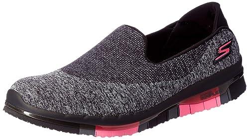 3616228b6689 Skechers Women s GO Flex-Revolve Black HOT Pink Nordic Walking Shoes-5 UK