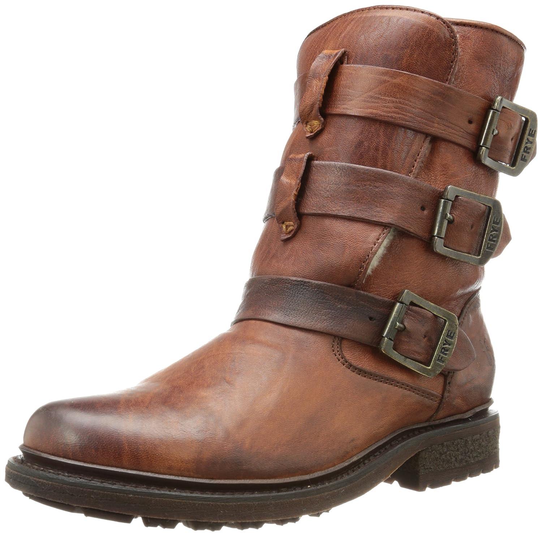 FRYE Women's Valerie Shearling Strappy Ankle Boot B00IMKIXFE 9 B(M) US|Cognac-75008