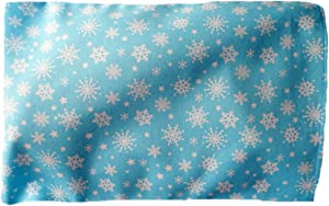 **Light Blue Snowflake** Microwave and Freezer Safe Hot / Cold Pad with Machine Washable Sleeve and Mini