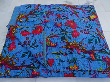 Tribal Asian Textiles Multicolore Paisley Taille Queen Kantha